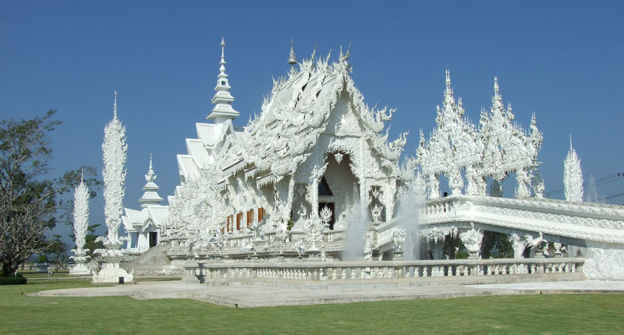 Descubre el templo blanco de Tailandia