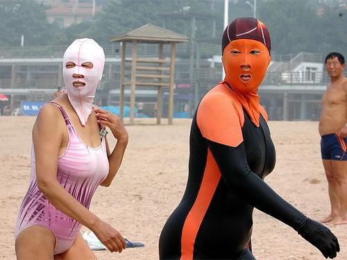 Facekini, la nueva tendencia contra el sol de playa Playas del mundo
