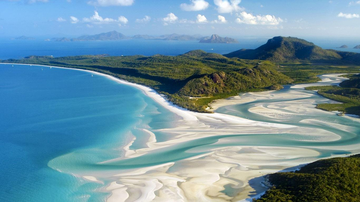 Whitehaven Beach Whitsunday Island, Islas Whitsunday Las mejores playas del Mundo