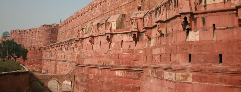 El Fuerte Rojo de Agra en la India Playas del mundo